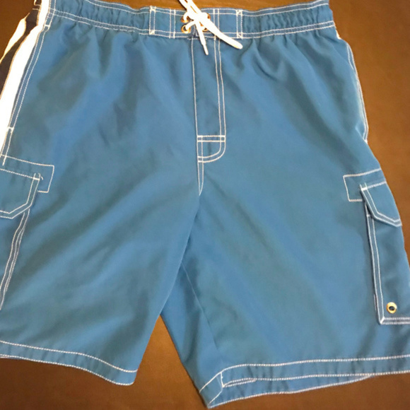 dd99d07a1f Sonoma Large Blue Cargo Swim Trunks Board Shorts. M_5af0f03146aa7c54c73a2dfd